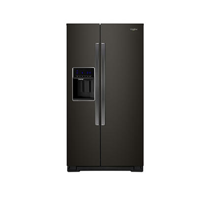 Whirlpool 28-Cu.-Ft. Side-by-Side Refrigerator - Black Stainless