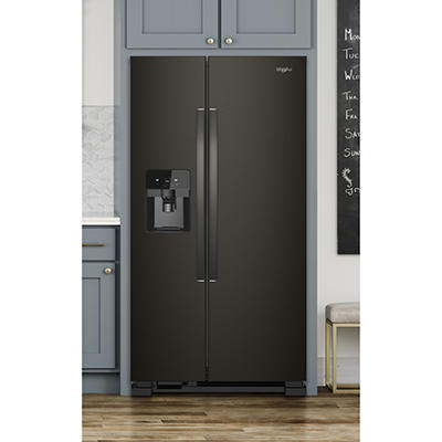 Whirlpool 25-Cu.-Ft. Side-by-Side Refrigerator - Black Stainless