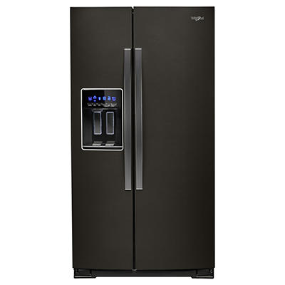 Whirlpool 21-Cu.-Ft. Counter-Depth Side-by-Side Refrigerator - Black S