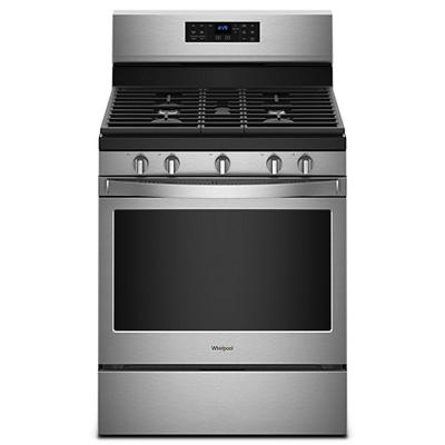 Whirlpool 5.0-Cu.-Ft. Freestanding Gas Range - Stainless Steel