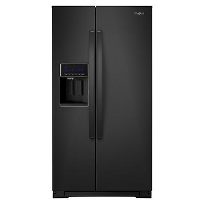 Whirlpool 28-Cu.-Ft. Side-by-Side Refrigerator - Black