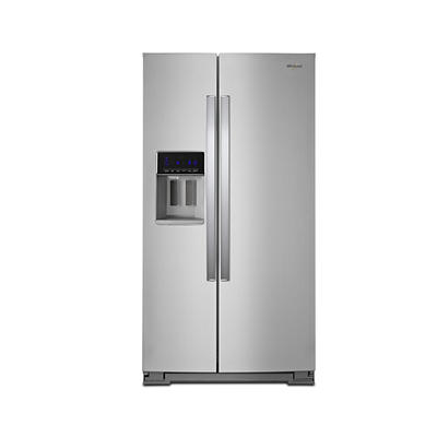 Whirlpool 28-Cu.-Ft. Side-by-Side Refrigerator Stainless Steel