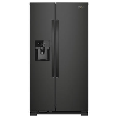 Whirlpool 25-Cu.-Ft. Side-by-Side Refrigerator - Black