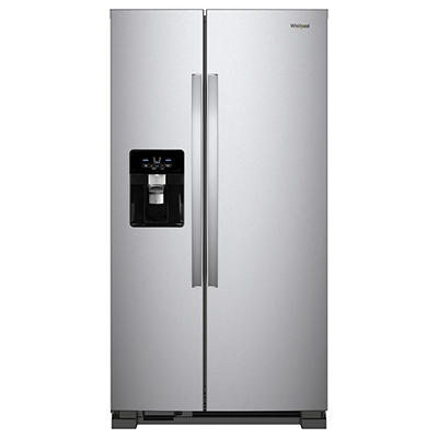 Whirlpool 25-Cu.-Ft. Side-by-Side Refrigerator - Stainless