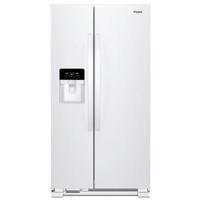 Whirlpool 25-Cu.-Ft. Side-by-Side Refrigerator - White