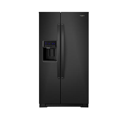 Whirlpool 21-Cu.-Ft. Counter-Depth Side-by-Side Refrigerator - Black
