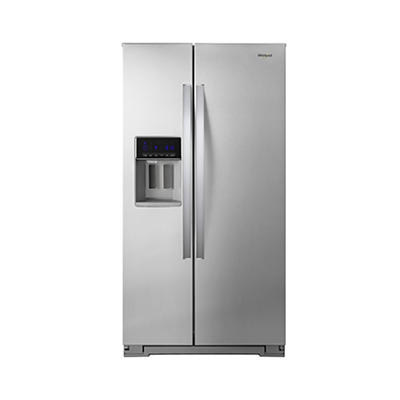 Whirlpool 21-Cu.-Ft. Counter-Depth Side-by-Side Refrigerator - Stainle