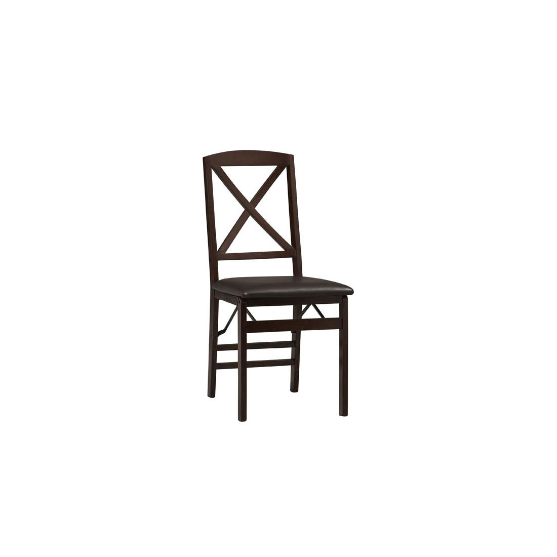 Phenomenal Linon Triena 18 X Back Folding Chairs 2 Pk Espresso Squirreltailoven Fun Painted Chair Ideas Images Squirreltailovenorg