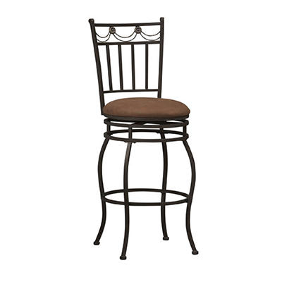 "Linon Swag 24"" Counter Stool - Brown"