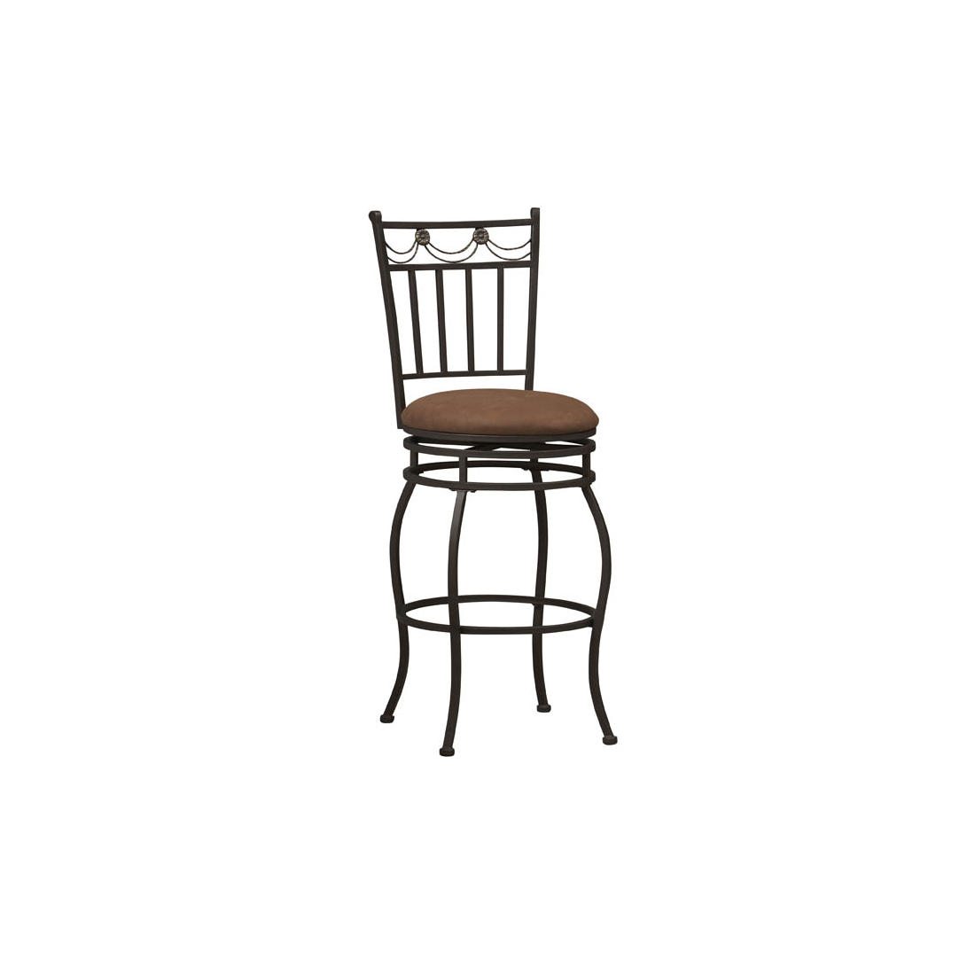 Admirable Linon Swag 24 Counter Stool Brown Gmtry Best Dining Table And Chair Ideas Images Gmtryco