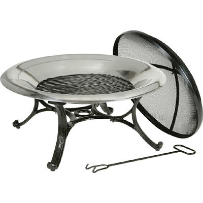 "Deckmate 29"" Stainless-Steel Fire Bowl"
