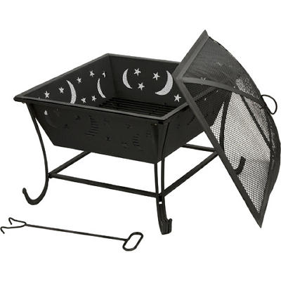 Deckmate Luna Outdoor Fireplace - Black