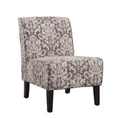 Linon Coco Fabric Accent Chair - Gray Damask