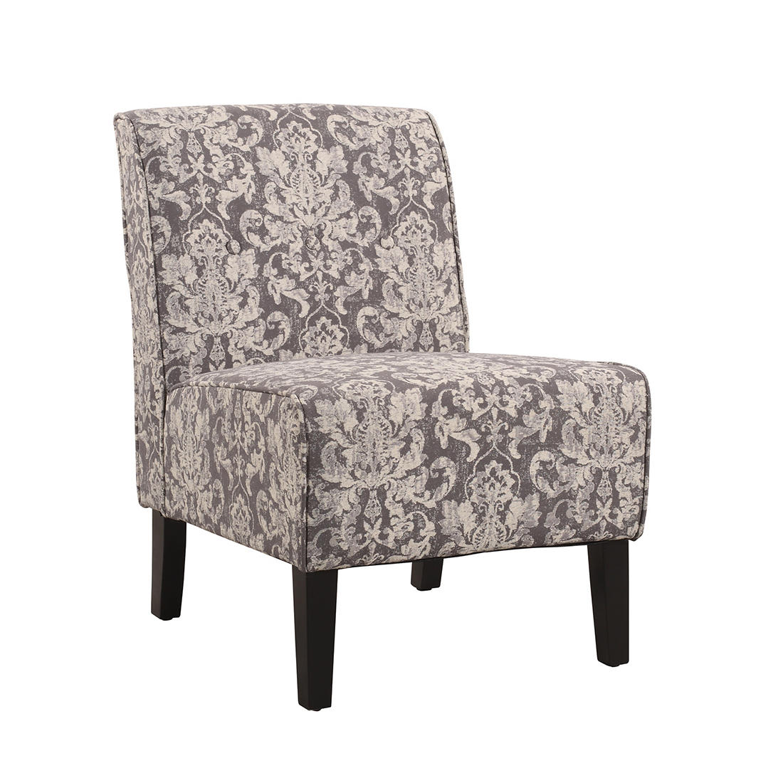 Awe Inspiring Linon Coco Fabric Accent Chair Gray Damask Andrewgaddart Wooden Chair Designs For Living Room Andrewgaddartcom