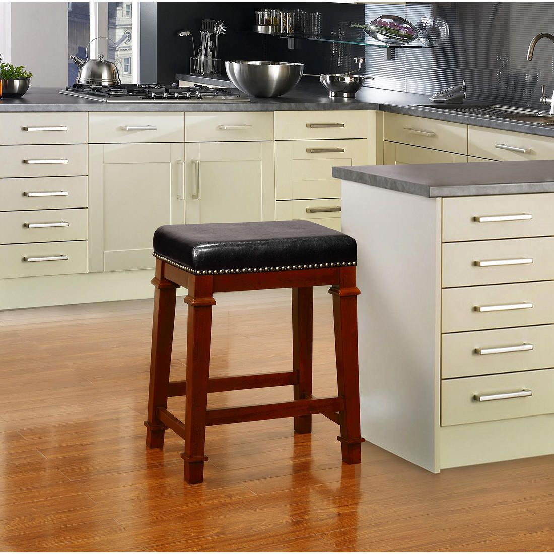 Cool Linon Kennedy 24 Backless Pu Counter Stool Black Ocoug Best Dining Table And Chair Ideas Images Ocougorg
