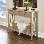 Kanan Console Table - Rustic Grey