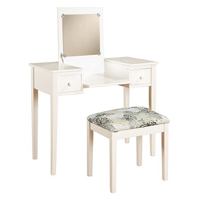 Linon Butterfly 2-Pc. Vanity Set - White