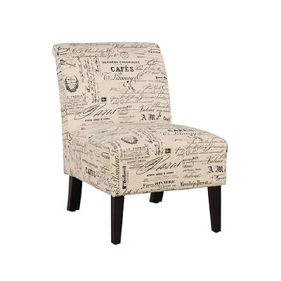 Linon Lily Linen Chair - Script