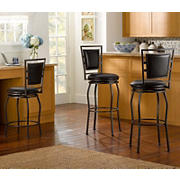 Linon Townsend Adjustable Stools, 3 pk. - Dark Brown