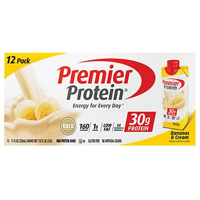 Premier Protein Bananas & Cream Shake, 12 pk./11 fl. oz.