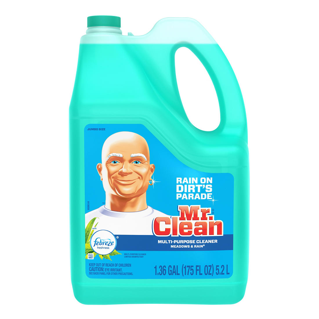 photograph about Mr Clean Coupons Printable identified as Mr. Fresh Multi-Rationale Cleaner with Febreze Meadows Rain Odor, 1.36 gal.