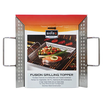 "Mr. Bar-B-Q 12"" x 12"" Stainless Steel Fusion Grill Topper"