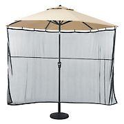 Classic Accessories Umbrella Shade Screen - Black