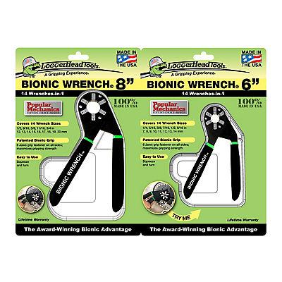 "LoggerHead Tools 8"" and 6"" Bionic Wrench Set"