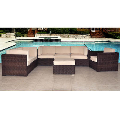 Atlantic Carmel 7-Pc. Patio Set - Antique Beige