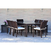 Atlantic Tokyo 9-Pc. Patio Dining Set - Off White Cushions - Seats 8