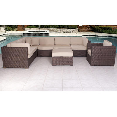 Atlantic Richmond 8-Pc. Outdoor Sectional Set - Antique Beige