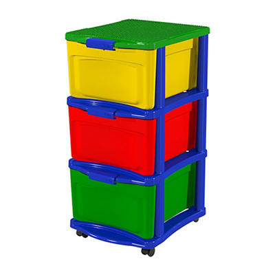 Bella Build & Store 3-Drawer Storage Unit - Multicolor