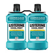 Cool Mint Listerine Antiseptic Mouthwash, Oral Care and Breath Freshener, 2pk./1.5L