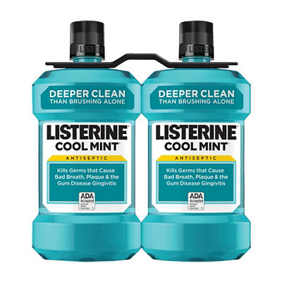 Cool Mint Listerine Antiseptic Mouthwash, Oral Care and Breath Freshen
