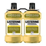Original Listerine Antiseptic Mouthwash to Freshen Breath and Kill Germs, 2 pk./1.5L