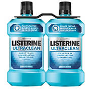 Listerine Ultraclean Arctic Mint Antiseptic Mouthwash For Bad Breath, 2 pk./1.5L