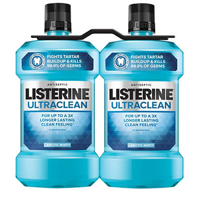 Listerine Ultraclean Arctic Mint Antiseptic Mouthwash For Bad Breath,