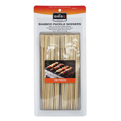 Mr. Bar-B-Q Bamboo Paddle Skewers, 100 ct.