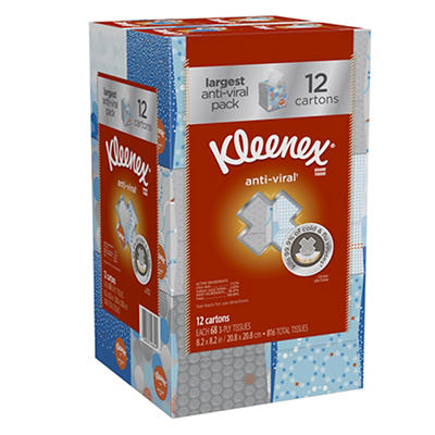 Kleenex Three-Ply Anti-Viral Tissues, 12 pk./68 ct.