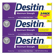 Desitin Baby Diaper Rash Maximum Strength Original Paste, 3 pk./4.8 oz.