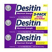 Desitin Baby Diaper Rash Maximum Strength Original Paste, 3 pk./4.8 oz.