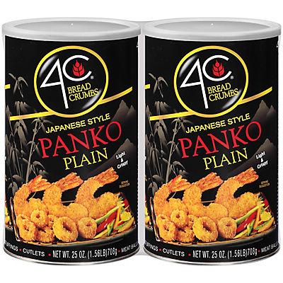 4C Foods Japanese Style Panko Plain Bread Crumbs, 2 pk./25 oz.