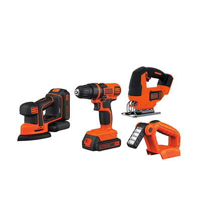 Black & Decker 20V MAX 4-Pc. Tool Set - Orange/Black