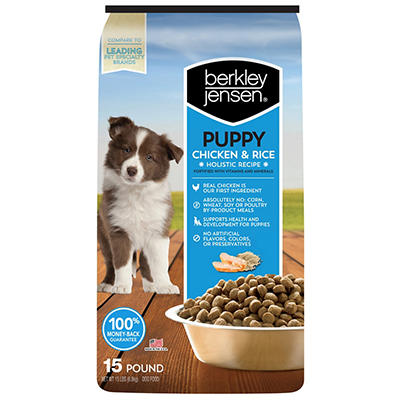 Berkley Jensen All-Natural Chicken & Brown Rice Holistic Recipe Puppy Food, 15 lbs.