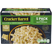 Cracker Barrel Sharp White Cheddar Macaroni & Cheese Dinner, 5 pk./14 oz.