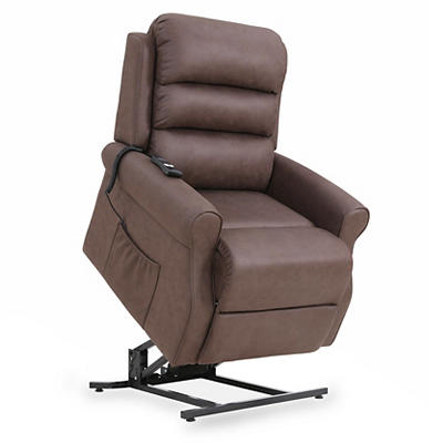 ProLounger Nubuck Lift Recliner - Chocolate Brown