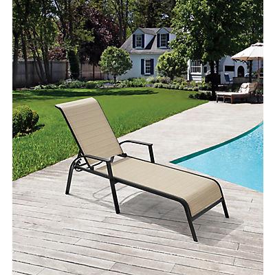 Berkley Jensen Adjustable Sling Chaise Lounge - Beige