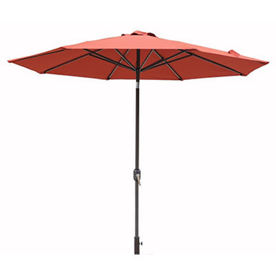 Berkley Jensen 9' Aluminum Umbrella - Red