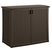 Suncast 97-Gal. Outdoor Wicker Cabinet