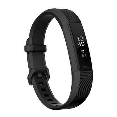 Fitbit Small Alta HR Bundle with 2 Bonus Bands - Black/Pink/Gray